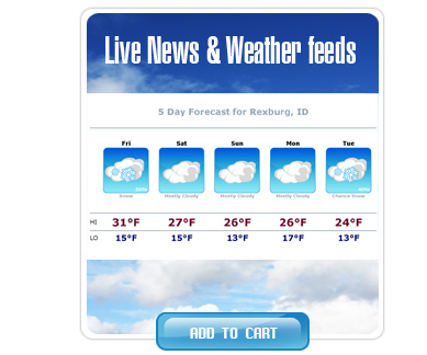Live News & Weather Feeds